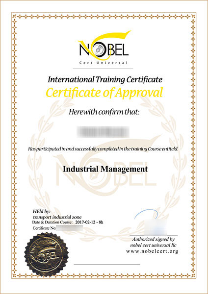 Training Certificate  Nobel Cert Universal  Training  Iso  Ce